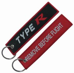 Flat Appearance Motorcycle Fabric Keychain Embroidered Name Keychain