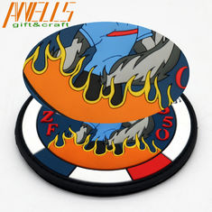 Custom Embossed 3D Soft Rubber 3.5'' PVC Silicone Patches
