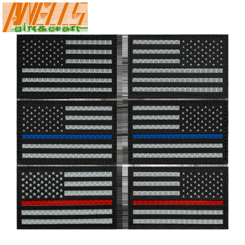 Garment Flag Velcro Backing Polyester Embroidery Patch